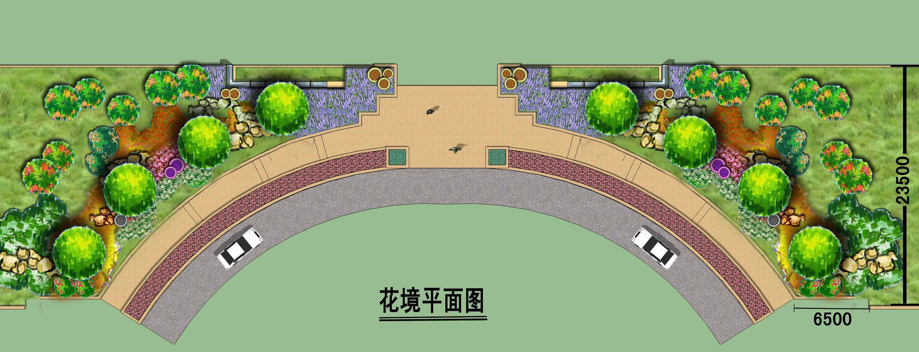 小景手绘平面图